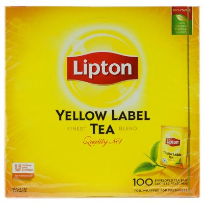 Чай пакетированный Lipton Yellow Label (foil wrapped for freshness) 100шт