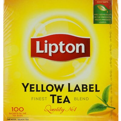 Чай пакетированный Lipton Yellow Label foil wrapped for freshness 100шт