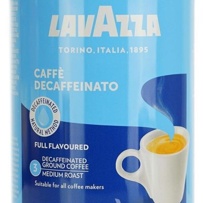 Кофе молотый Lavazza Caffe Decaffeinato (Tin Pack) 250г