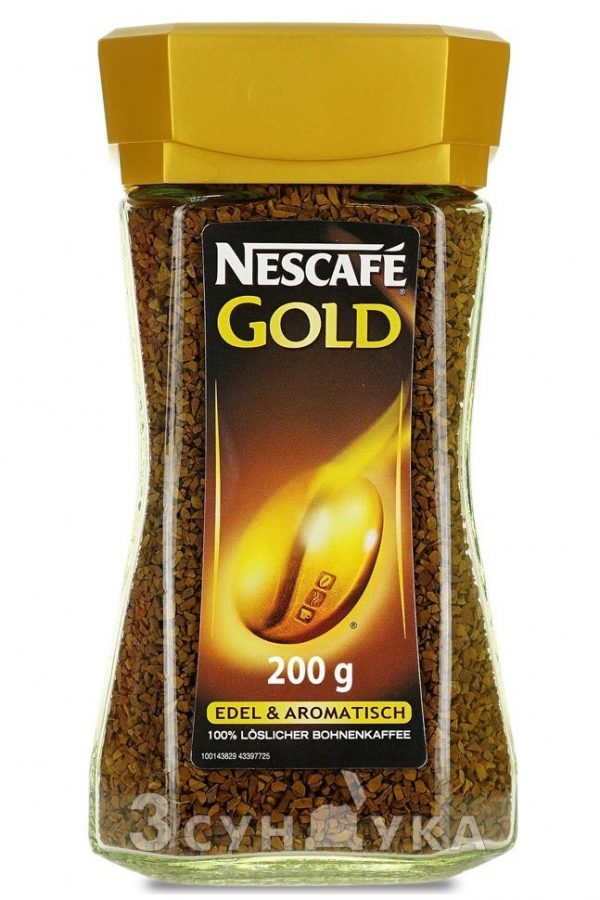 Кофе растворимый Nescafe Gold (Glas) 200г